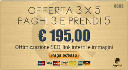 Offerta Speciale 3 X 5