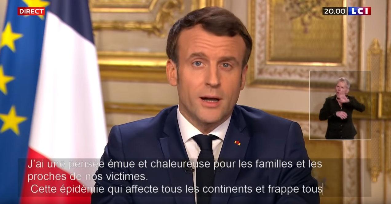 Macron discorso 16 marzo 2020