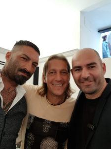 Antonio Sepe con Michael Salgado e Giorgio Alfieri