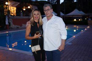 Carmine Paglica con la giornalista Rai Antonietta di Vizia
