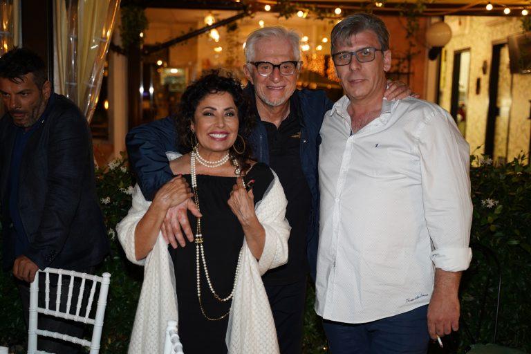 Carmine Pagliuca con Franco Oppini e Ada Alberti