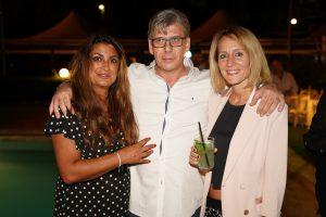 Carmine Pagliuca con la manager Carmen d'Elena e Valentina Chiusuri